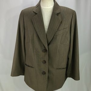 Dress Barn Women's Blazer Jacket Coat Brown 16W